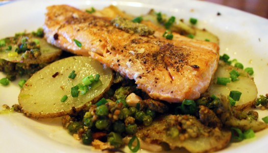 Filet of Arctic Char with Mrs. McGarrigle's Lemon Dill Mustard